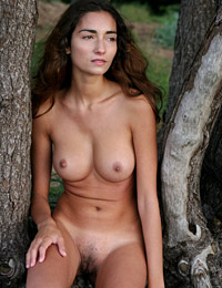 Model gabrielle b in nature walk